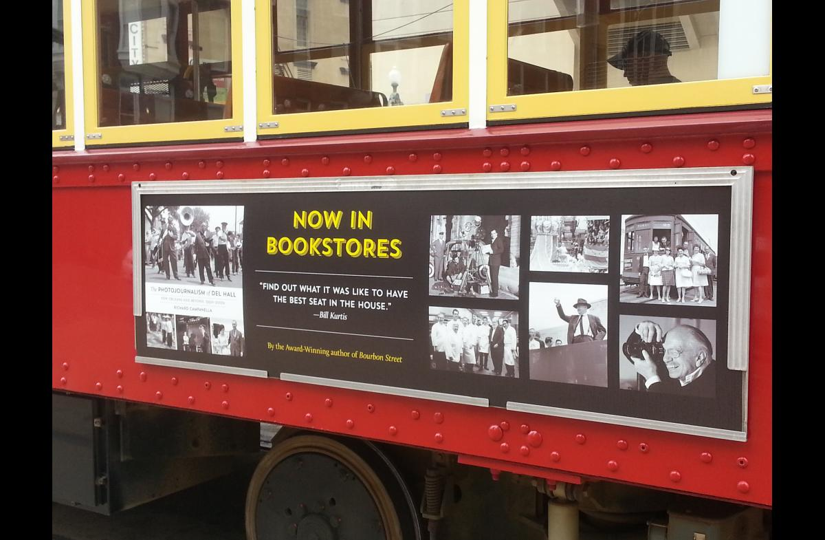 Book Ad on New Orleans Streetcar