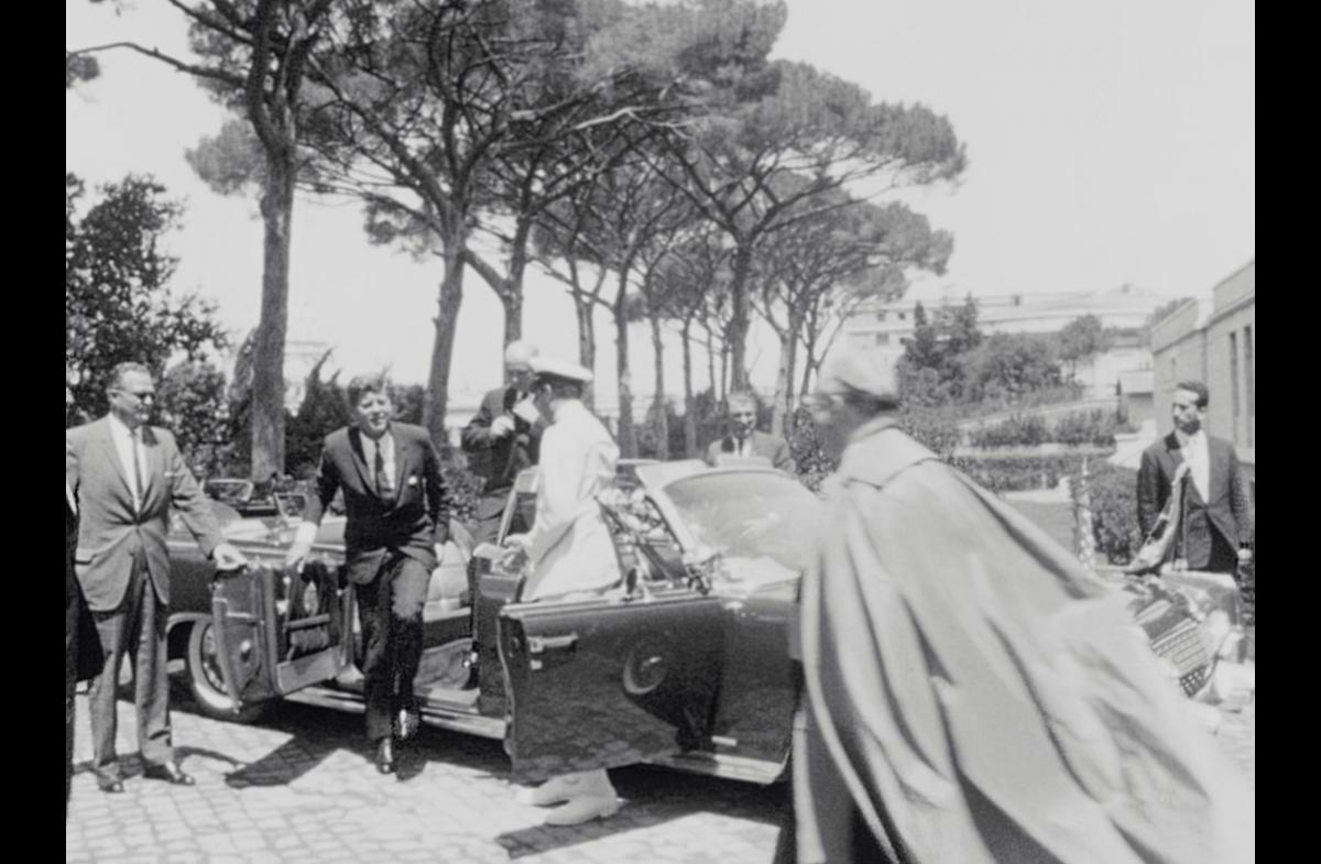 JFK visits the North American College, Rome