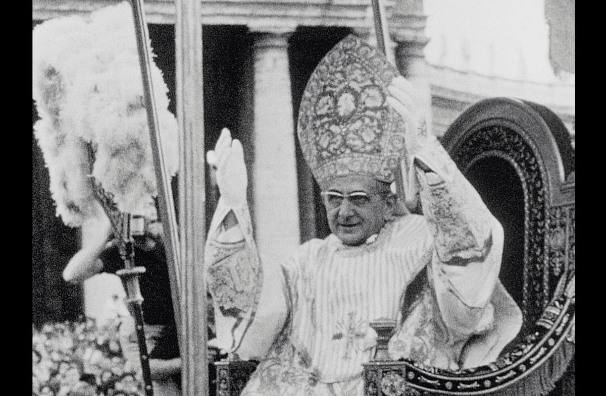 Coronation of Pope Paul XI, from film frame